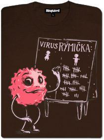 Virus rýmička a jeho pánská statistika - hnědé dámské tričko