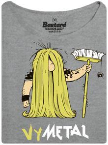 Vymetal metalové koncerty - šedé dámské tričko