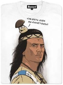 Hřib sedící na hlavě Vinnetoua - dásmé tričko