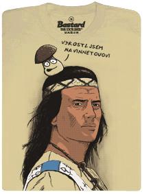 Vyrostl jsem na Vinnetouovi říká hříbek, který mu sedí na hlavě