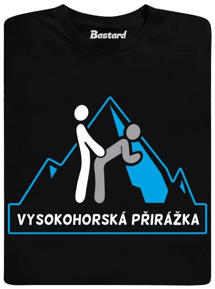 Vysokohorská přirážka - černé pánské tričko