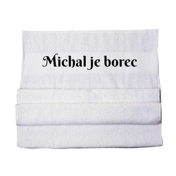 Vzorový vlastní potisk - klasický ručník