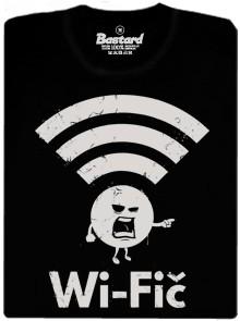 Wi-Fič - černé pánské tričko