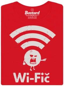 Naštvaná Wi-Fi - červené dámské tričko