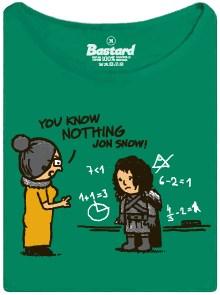Jon snow už zase nic neví - zelené dámské tričko