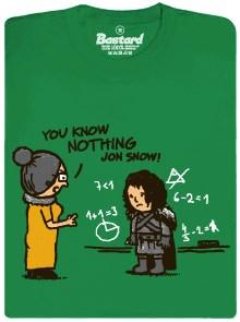 You know nothing Jon Snow - zelené pánské tričko