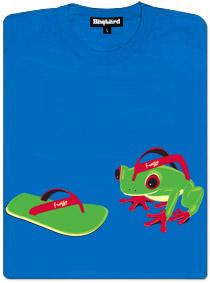 Dámské tričko s potiskem Žabka kouká na žabku