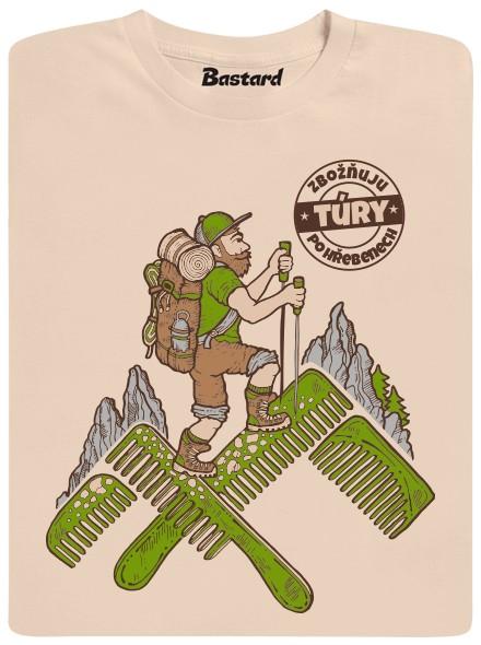 Turista - béžové pánské tričko