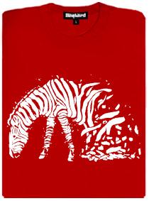 Zebrovaná láska - bílé pruhy - dámské tričko