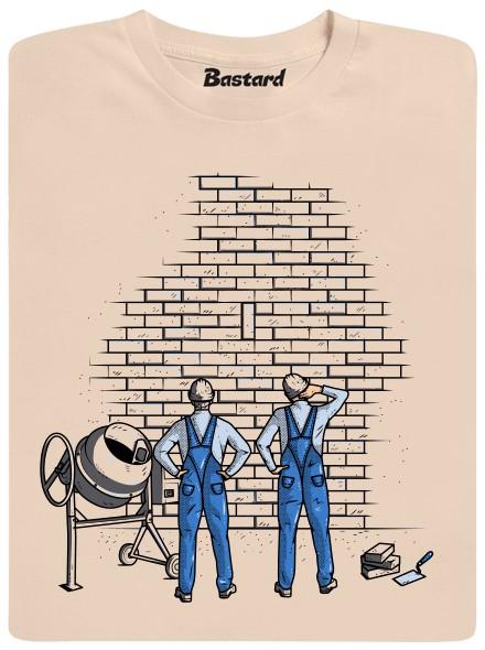Zedníci - hnědé pánské tričko