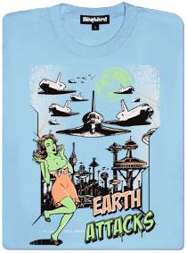 Země útočí raketoplány