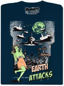 Země útočí raketoplány - tmavě modré