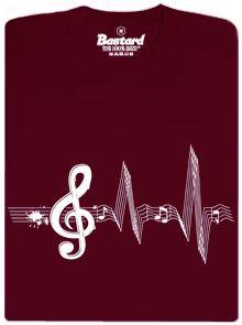 Žijeme muzikou - vínové pánské tričko