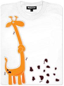 Žirafa - vystřihovánky s vyznačenými nůžkami
