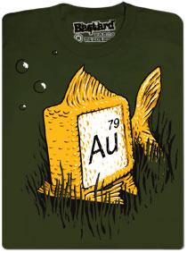 Zlatá rybka a její chemická značka Au a protonové číslo 79