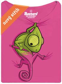 Chameleon se zmizíkem - růžové dámské tričko