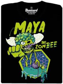 Zombie Mája - včelka - černé dámské tričko