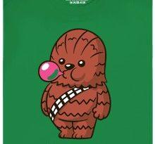 Žvejkal z Hvězdných válek moc rád žvýká - zelené pánské tričko